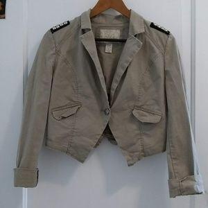 Daytrip Cropped Military Style Blazer